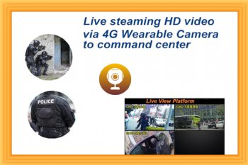 4G Body worn camera live video streaming solution provider