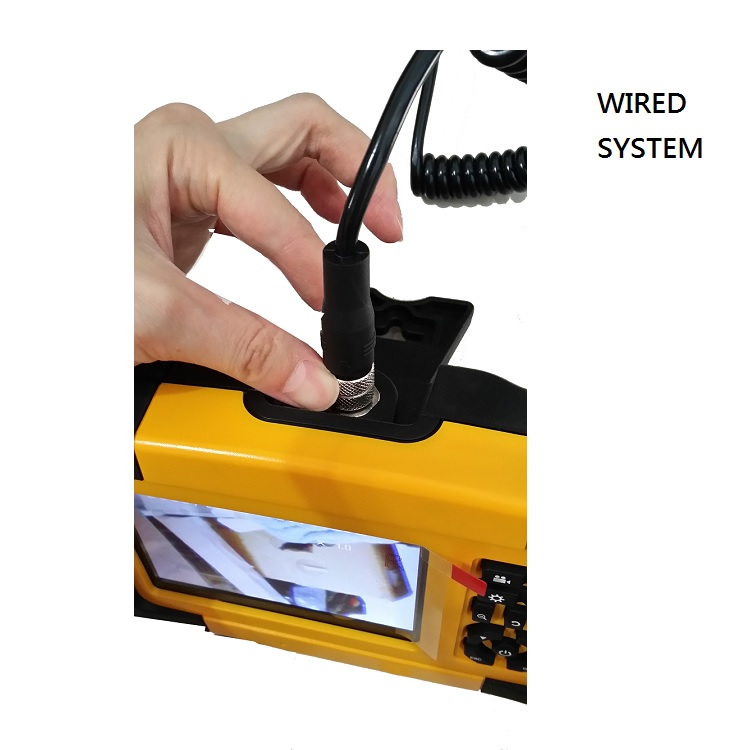 "4-Way (IR infrared Night Vision)Articulation Inspection Camera Borescope and High Resolution 5""LCD DVR( Wireless)"